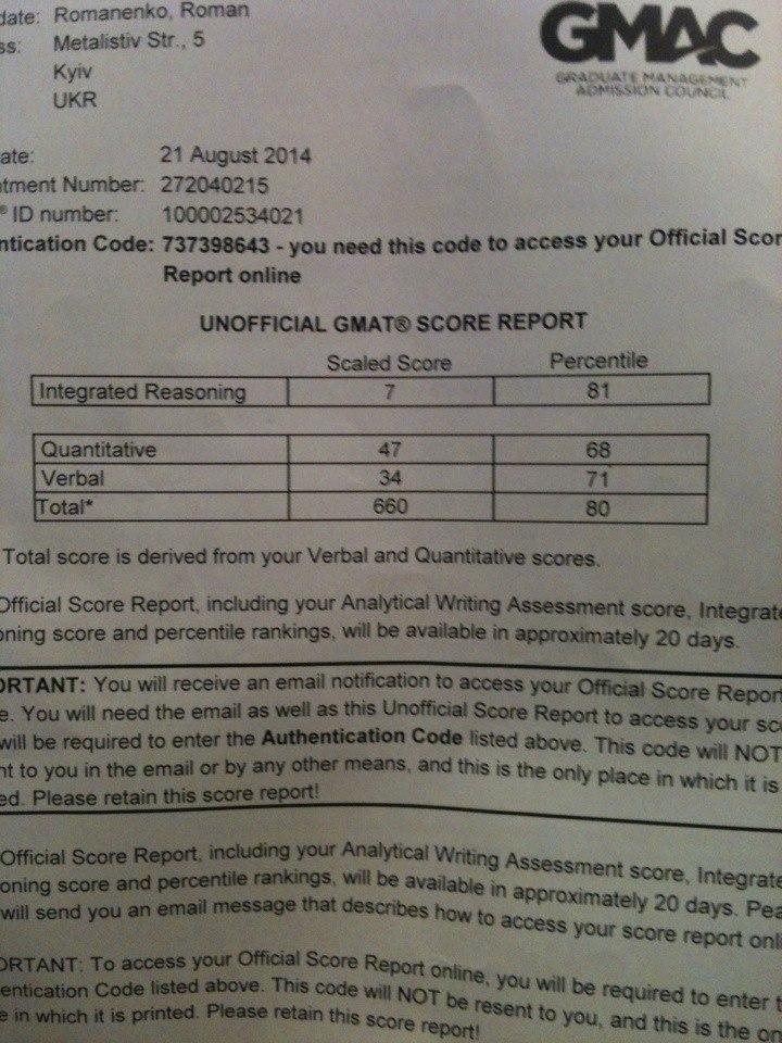 Сертификат GMAT